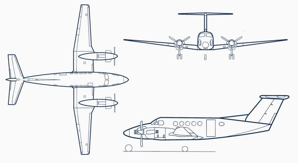Beechcraft-King-Air-B200-drawing