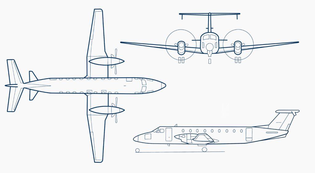 Beechcraft-1900C-sketch-SE-MHU