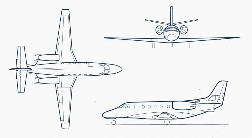 Cessna-Citation-560XL-sketch