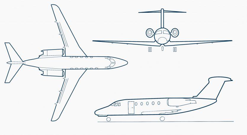 Cessna-Citation-560XL-drawing